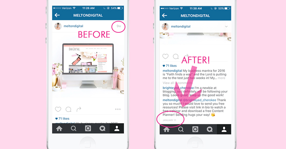Instagram Now Shows Exact Dates of Posts