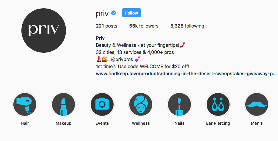 Priv Instagram Highlights