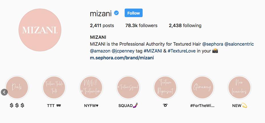 Mizani Instagram Highlights