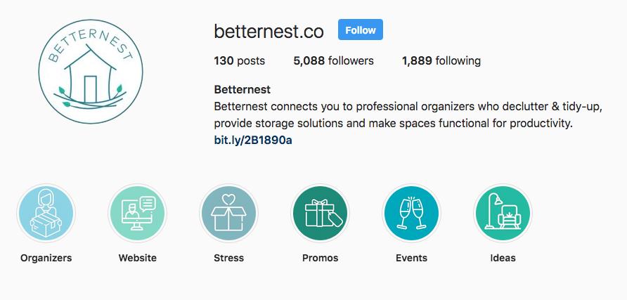 Betternest Instagram Highlights
