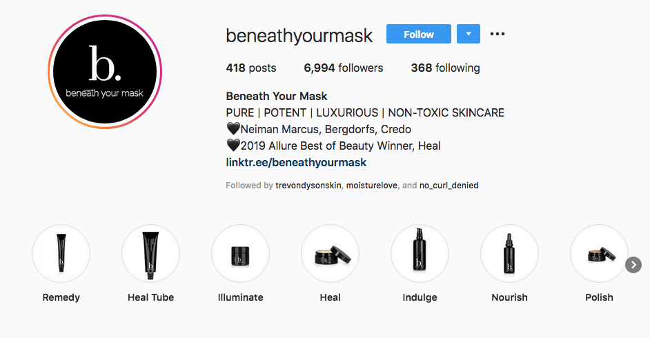 Beneath Your Mask Instagram Highlights