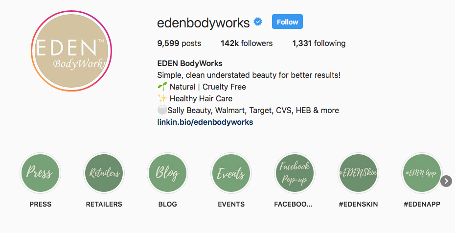 Eden BodyWorks Instagram Highlights
