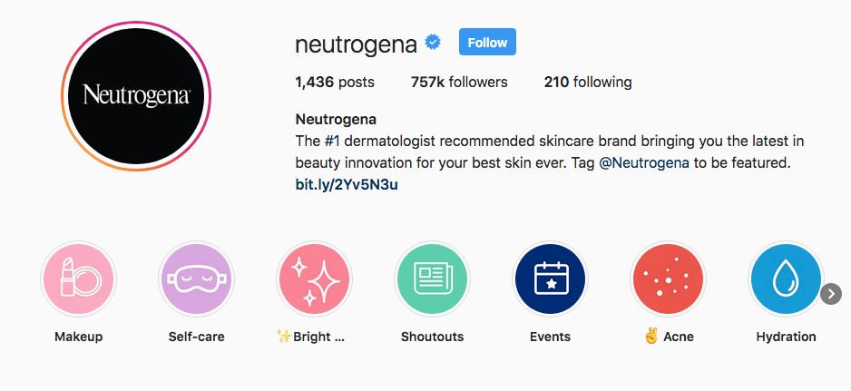 Neutrogena Instagram Highlights