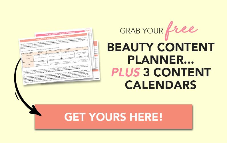 Beauty Content Planner Download