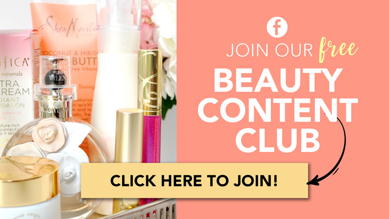Beauty Content Club Facebook Group